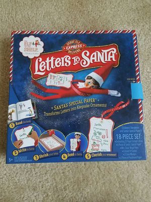 Elf on the Shelf Letters to Santa gift set - $15 price firm for Sale in Rockville, MD