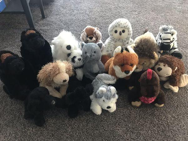 Various webkinz stuffed animals (16)