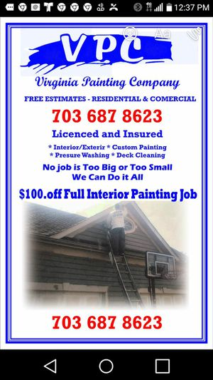 PAINTING CONTRACTOR for Sale in Fairfax, VA