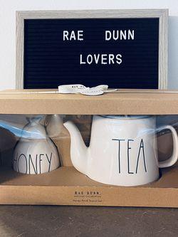 RAE DUNN ✨HONEY POT & TEAPOT✨ SET for Sale in Tacoma,  WA