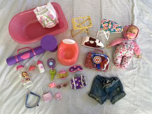 20+ LITTLE GIRLS FUN BABY DOLL TOY SET & BABY DOLL ACCESSORIES for Sale in Colorado Springs, CO
