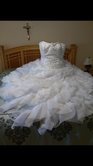 White corset gown for Sale in Tampa, FL
