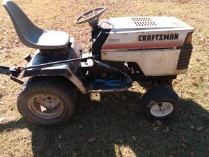 Craftsman yard tractor, tiller, blade for Sale in Alvarado, TX