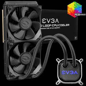 EVGA CLC 240mm All-In-One RGB LED CPU Liquid Cooler for Sale in Union City, MI