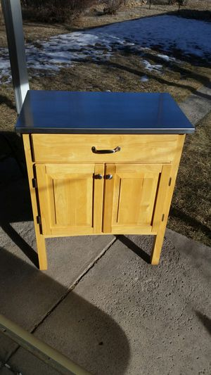 Wood & Stainless Steel Kitchen Island / Cart for Sale in Colorado Springs, CO