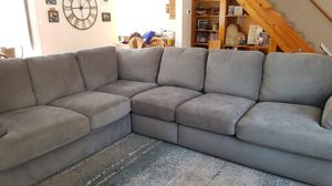 Grey Microfiber Sectional for Sale in Etterville, MO