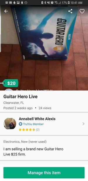 Guitar Hero Live for Sale in Clearwater, FL