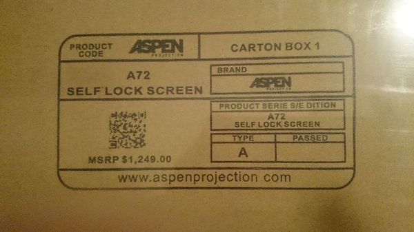 Brand new 3D 4K projector with surround sound system and remote controlled 72in screen.