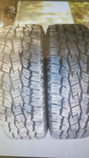 (TWO) TIRES - TOYO A/T OPEN COUNTRY LT 265 70 17 121/116S 10PLY - $250FIRM for Sale in Sacramento, CA