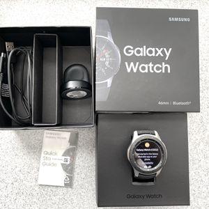 Samsung Galaxy Watch SM-R800 46mm Silver Case Classic Buckle Onyx Black for Sale in Phoenix, AZ