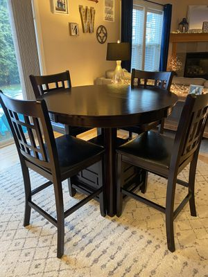 PENDING: Kitchen table w/4 chairs (bar height) for Sale in Bothell, WA
