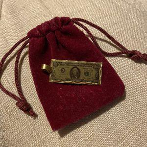 14k Gold One Hundred Dollar Bill Charm for Sale in Fullerton, CA