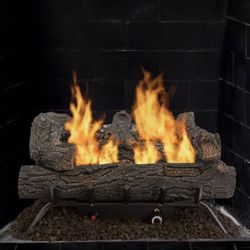 Pleasant Hearth Southern Oak 24.25 in. Vent-Free Dual Fuel Gas Fireplace Logs for Sale in Umatilla,  FL