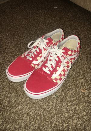 Red Checkered Vans for Sale in Grand Prairie, TX