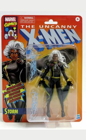 Marvel Legends 6 Inch Jim Lee X-Men Storm Black Outfit Collectible Action Figure Toy in Retro Packaging for Sale in Chicago, IL