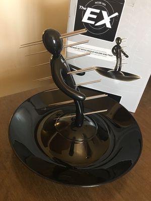 The EX Skewer Set (Black) Unique Holder Tray Serving Plate Appetizer Food Party Dining Kitchen for Sale in El Monte, CA
