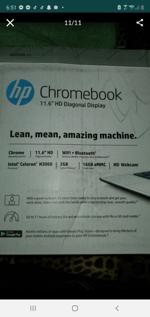 Hp chromebook pick up only for Sale in Bakersfield, CA