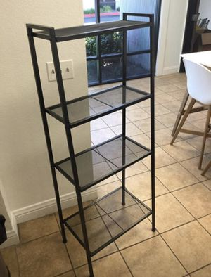 4-Shelf Metal Ladder Book Shelf Open Bookcase Black and White Available for Sale in Pomona, CA