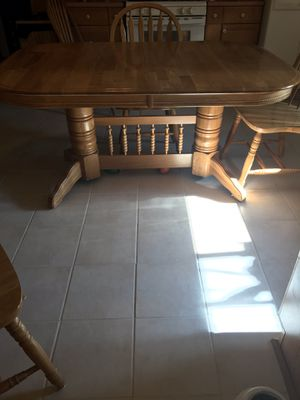 Table with two leaves and five for Sale in Saint Helen, MI
