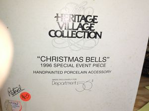 """Dept 56 heritage village """" Christmas Bells"""" 1996 special event for Sale in North Miami Beach, FL"""