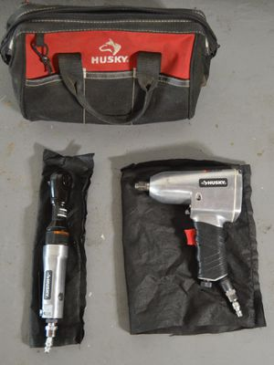 HUSKY 1/2 in. Impact Wrench and 3/8 in. Ratchet Wrench Combo with BAG for Sale in Tarpon Springs, FL