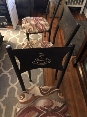 Coffee theme chairs for Sale in Morrisville, PA