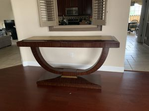 29885 Maitland Smith Leather Top Rosewood Modern Design Console Table for Sale in Alafaya, FL