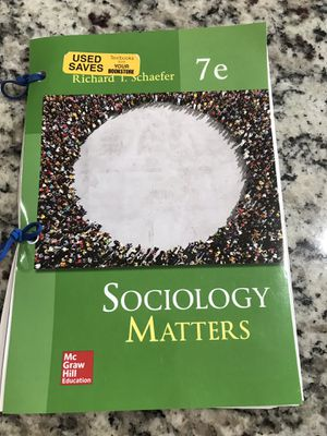 Sociology Matters Textbook 7th Edition for Sale in Indio, CA