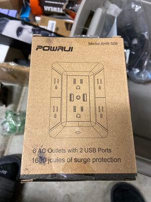 Powrui 6 AC with 2 USB ports for Sale in Grand Terrace, CA