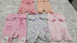 Baby girl fleece pajamas 0-3 months for Sale in Goodyear, AZ