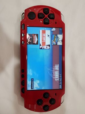 RED/BLACK 2001 * SLIM * - PSP - WITH 5,000 GAMES !!! for Sale in Santa Ana, CA