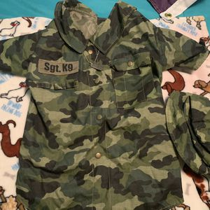 Dog Military Outfit Size Large Camouflage for Sale in Torrance, CA