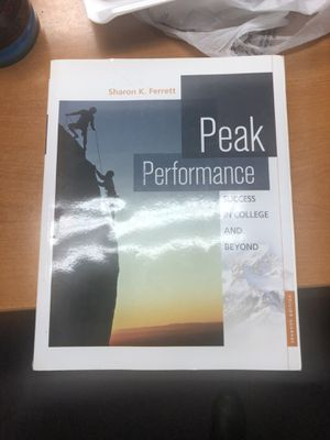 Peak Performance book for Sale in Gilroy, CA