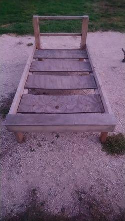 Twin wood bed frame for Sale in Abilene,  TX