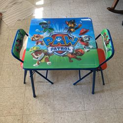 Paw Patrol Themed Kids Fold Up Table & 2 Chairs  for Sale in Seattle, WA
