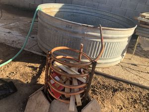 Wood heated tub for Sale in Phoenix, AZ