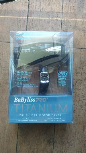 Babyliss pro titanium rapido hair dryer for Sale in Oakland, CA