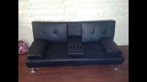 Leather futon for Sale in PA, US
