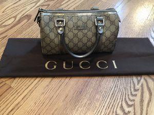 Gucci Small Boston bag GG supreme canvas, metallic trim for Sale in North Reading, MA