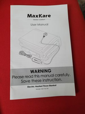 Maxkare electric heated throw blanket for Sale in Hawthorne, CA