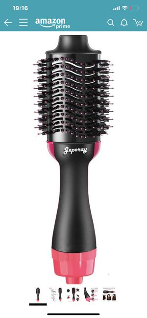 One Step Hair Dryer & Volumizer, Mute Ceramic Hair Dryer Hot Air Brush, Negative Ionic Hair Straightener and Curler Hair Style Maker for All Hairs for Sale in Chino Hills, CA