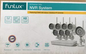 Funlux 8 Channel 720p indoor/ outdoor security cameras for Sale in Tampa, FL
