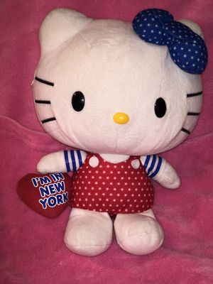 """Large 11"""" Hello Kitty New York plush doll wearing star overalls and matching star bow for Sale in Phoenix, AZ"""