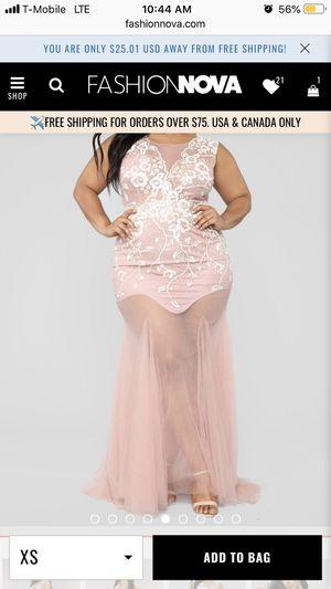 FashionNova Dream Come True Embellished Dress - Blush for Sale in UPPR CHICHSTR, PA