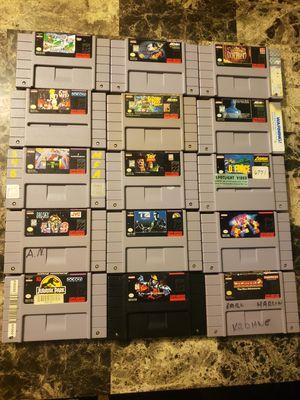 15 Super Nintendo SNES game cartridges for Sale in Festus, MO