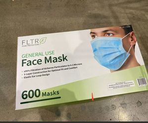 FLTR General Use Face Mask, Single Use, One Size, 600 ct for Sale in Irvine,  CA