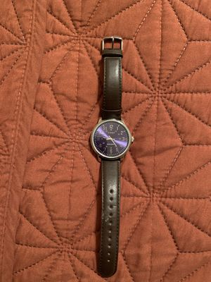Timex men's leather strap watch for Sale in Peoria, AZ