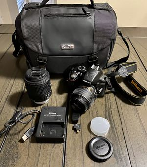Nikon Camera D3300 with 2 lenses for Sale in Universal City, TX