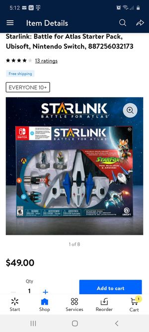 Starlink Nintendo Switch for Sale in San Antonio, TX