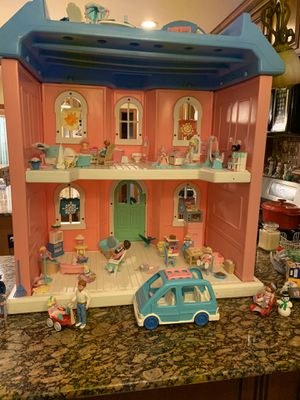 Fisher price doll house with accessories for Sale in West Warwick, RI